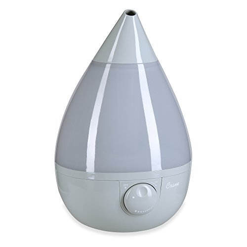 Crane USA Humidifiers - Ultrasonic Cool Mist Humidifier, Filter-Free, 1 Gallon, for Home Bedroom Baby Nursery and Office, Grey