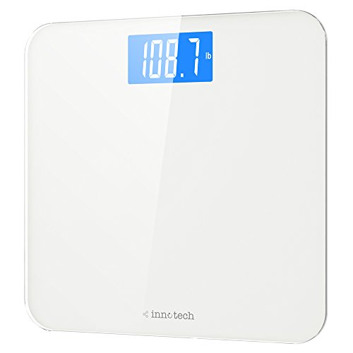 : Innotech Digital Bathroom Scale with Easy-to-Read Backlit LCD