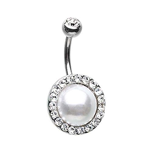 Royal Supreme Jewelled Pearl Belly Button Ring