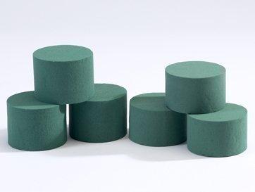 6 confezioni Oasis Ideal Rotondo cilindro di schiuma bagnata.per fioristi floreale Artigianato Fiori / Fiorai Design & Displays Smithers Oasis 1072