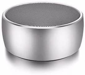 Premium Portable Wireless Bluetooth Stereo Speaker Rich Bass Loud Vol. TF Card for All Smart Phones iPhone Android Phones PC, USB Rechargeable Battery, Gun Metal Shell Silver