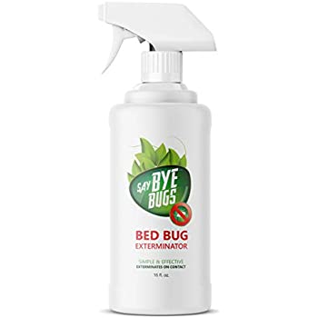Say Bye Bugs Bed Bug Extermination Spray 16 oz. - Pet & Family Safe - SayByeBugs (16 oz Bottle)