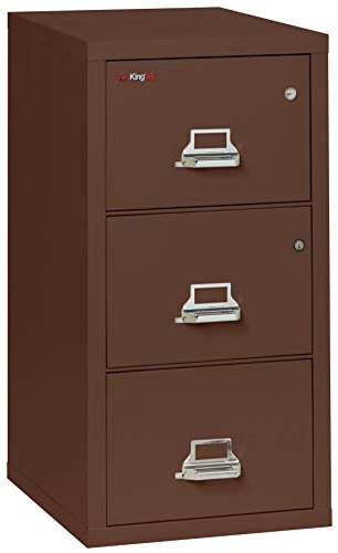 Fireking Legal Safe-In-A-File Fireproof Vertical File Cabinet (2 Drawers, Impact Resistant, Waterproof), Brown by FireKing