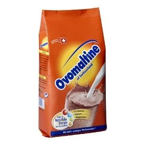Ovomaltine of Switzerland Hot/cold chocolate hot/cold cocoa chocolate milk mix IMORTED from GERMANY-500 g