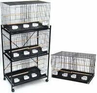 (Brand New Lot of Four Bird Breeding Cage 30x18x18/Stand Divider-BLACK)