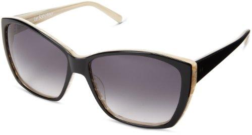 Tres Noir Women's Le Saboteur Oversized Sunglasses,Black & White,51 - Greaser Sunglasses