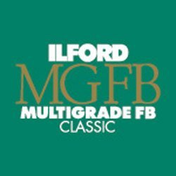 Ilford Multigrade FB Classic Fiber Based Variable Contrast, Doubleweight Black & White Enlarging Paper 11x14'', 50 Sheets, Glossy - for Printing from Conventional Negatives. by Ilford