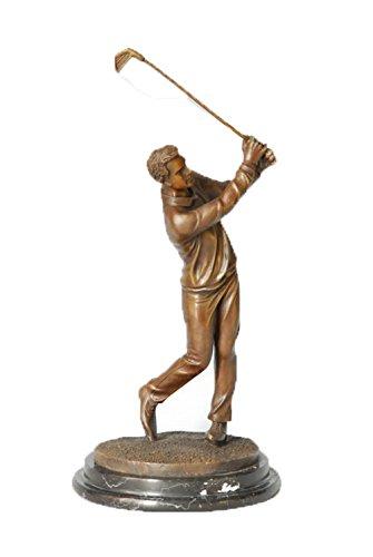 Toperkin Golfer Male Bronze Statues Metal Collection Sculpture Home Decor TPE-221