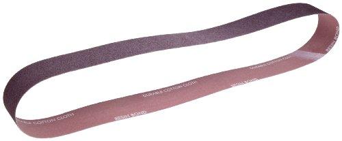 Norton Metalite R228 Benchstand Abrasive Belt, Cotton Backing, Aluminum Oxide, 1'' Width, 42'' Length, Grit 320 (Pack of 50) by Norton Abrasives - St. Gobain