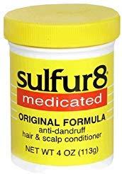 - Sulfur8 Medicated Anti-Dandruff Hair & Scalp Conditioner, Original Formula, 4-Ounce Bottle by Sulfur 8