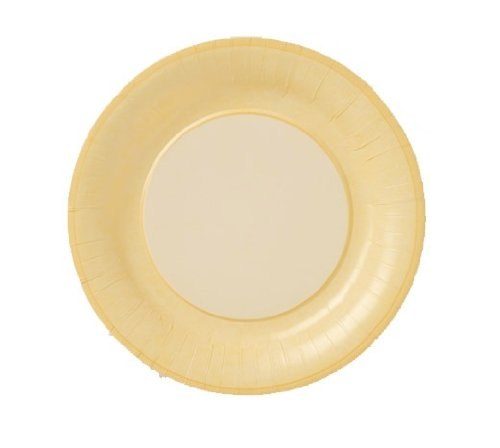 Lenox Marble Paper Plates, Yellow, 10-1/2-Inch, Pack of 8