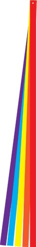 In the Breeze 6 Foot Colorful Kite Tail Set - Five Different Solid Color Tails - Ripstop Fabric ()
