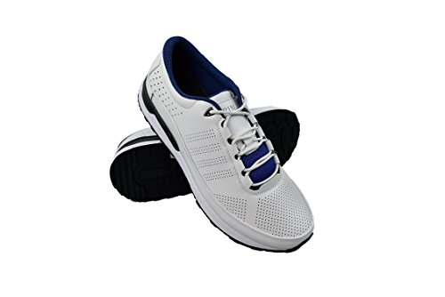 Zerimar Scarpe da Golf Fabbricati in Pelle Bovina Sport e Confortevole Casual Running Colore Bianco Taglia 45