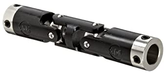 """Boston Gear JPD623/8 Universal Joint, Double, Molded, 0.375"""" Bore, 0.860"""" Bore Depth, 3.516"""" Length, 0.625"""" Outside Diameter, 47 ft/lbs Max Torque, Delrin"""