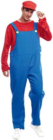 Disfraz Fontanero rojo hombre adulto para Carnaval (L): Amazon.es ...