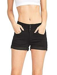 Wax De la Mujer de Cera Juniors Stetchy Mid Rise Denim Shorts