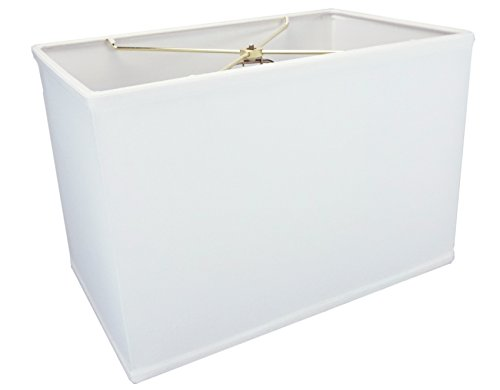 (10x16)x(10x16)x11 Rectangular Drum Lampshade White with Brass Spider fitter By Home Concept - Perfect for table and Floor lamps - Large, White