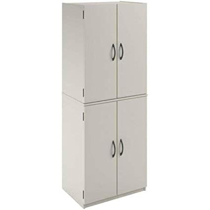 Fabulous Mainstays 4 Shelf Multipurpose Storage Cabinet White Interior Design Ideas Ghosoteloinfo