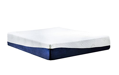 High Density 13 inch Gel Memory Foam Mattress with Bamboo Cover - Twin, Full, Queen, King (Twin) by Swiss Ortho Sleep