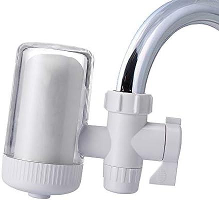 Grifo purificador de agua para grifo de cocina, lavable, percolador de cerámica, filtro de agua pequeño, filtro de eliminación de bacterias, filtro de repuesto: Amazon.es: Hogar