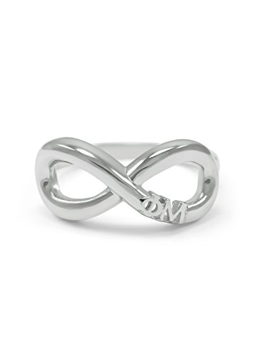 Phi Mu Sterling Silver Infinity Ring (08)