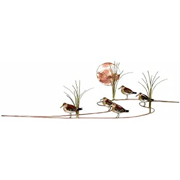 Amazon.com: Wall Art - Sandpipers At Sunset Metal Wall Sculpture ...