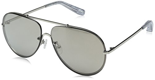 Elizabeth and James Women's Rider Aviator Sunglasses, Silver, 61 - James Sunglasses Elizabeth