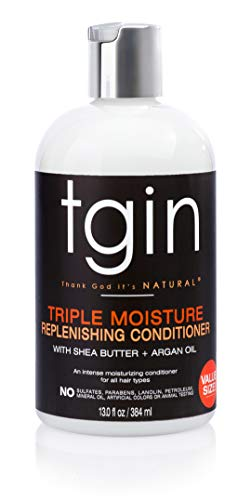 tgin Triple Moisture Replenishing Conditioner For Natural Hair - Dry Hair - Curly Hair, 13 oz