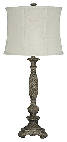 Ashley Furniture Signature Design - Alinae Table Lamp - Vintage Style - Antique Gray