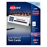 Avery(R) Laser White Tent Cards, 11in. x 3 1/2in., Box Of 50