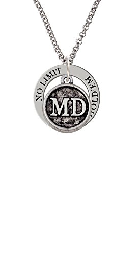 Texas Seal Jewelry Pendant (Doctor Caduceus Seal - MD - Texas Hold'em Affirmation Ring Necklace)