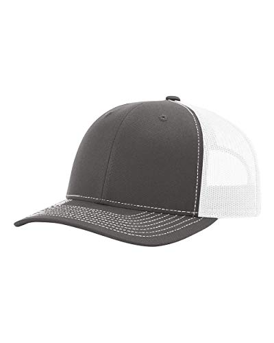 Richardson 115 Snapback Truckers Cap, Charcoal/White, Adjustable