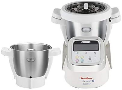 Moulinex i-Companion HF900110 - Robot de cocina Bluetooth 13 programas, hasta 6 personas, con picadora, batidor, mezclador, amasador, triturador y cesta de vapor, cortador + vapor + bol de 3 L: Amazon.es: Hogar