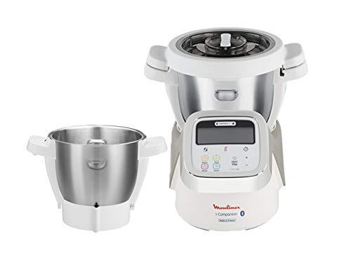 Moulinex i-Companion HF900110 - Robot de cocina Bluetooth 13 programas, hasta 6 personas, con picadora, batidor, mezclador, amasador, triturador y ...