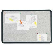 Boone(R) Plastic Frame Granite Bulletin Board, 18