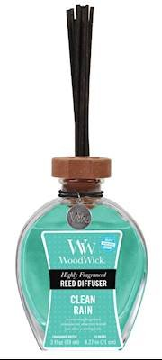 WoodWick Oil Reed Diffusers Highly Fragranced and Scented Bottle, Clean Rain
