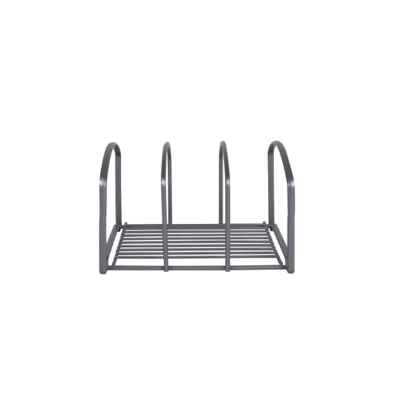 DecoBros Kitchen Houseware Organizer Pantry Rack, Silver 5 Fit for cutting boards & cookie sheets Elegant bronze coating Made by Sturdy Gauge Steel