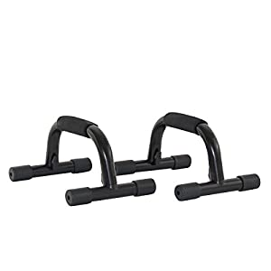 ProSource Push Up Bars (Set of 2) Heavy Duty Steel Handles with Cushioned Foam Grips and Slip Resistant Base
