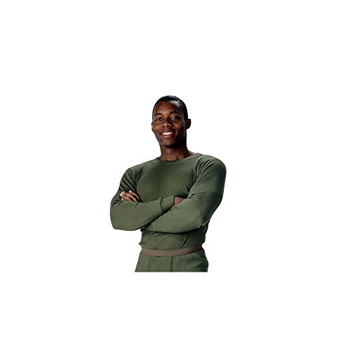 Rothco Thermal Knit Underwear Top, Olive Drab, Large