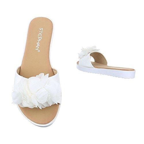 Ital-Design - zapatillas de baile (jazz y contemporáneo) Mujer Weiß