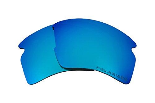 Seek Optics Replacement Lenses for Oakley FLAK 2.0 XL, Revo Ice Blue Mirror - Revo Lens Replacement