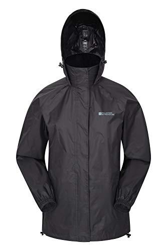 Mountain Warehouse Pakka Womens Waterproof Packable Jacket – Foldaway Hood Jacket, Ladies Coat, Lightweight Rain Jacket…