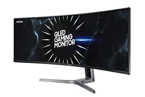 "SAMSUNG 49"" Class Wide Screen QLED Gaming Quantum Dot (3840x1080) Monitor - LC49RG90SSNX/ZA"