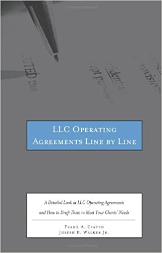 LLC Operating Agreements Line By Line A Detailed Look