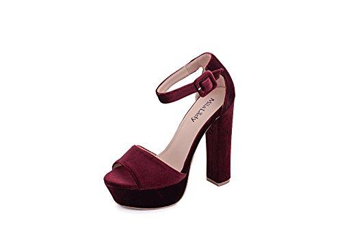 fd086eebf560 Mila Lady Kimberly Women s Glamorous Platform Block Chunky Heels