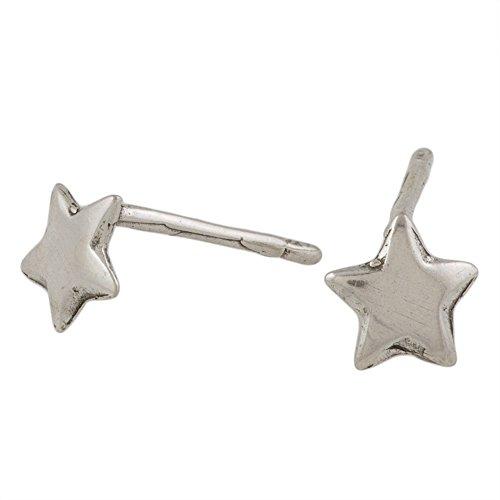 (Custom silver star earrings Tiny stud Star Earrings 7mm 925 Sterling Silver Pair star)