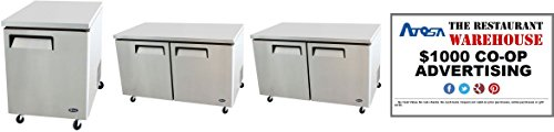 Atosa Undercounter 48-Inch Two Door Freezer and $1000 Restaurant Advertising Credit by Atosa