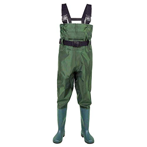 Azuki Fly Fishing Waders with Wading Boots,Fishing Gear,Chest Waders for Fishing