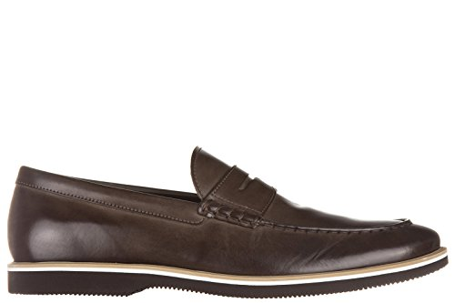Hogan mocassins homme en cuir h262 marron
