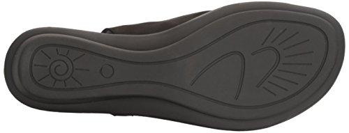 Nubuck Sesto Toe Elax Soft Black Ring Women's Meucci Sandal 8Tzwr8